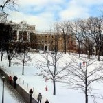 SLEDDING DOWN BASCOM HILL