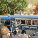 TEAM ARRIVAL ON BLUE BUSSES