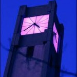 PURPLE & WHITE CLOCK