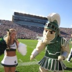 SPARTY & MSU CHEERLEADERS