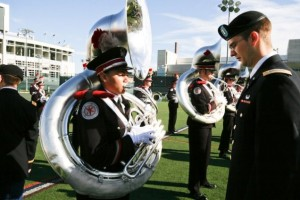 OSUMB goes through a military uniform inspection prior to every game ...